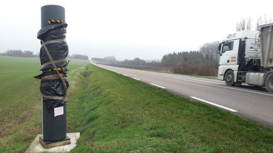 Radar de la D660 à la sortie de Malay-Le-Petit (direction Troyes)
