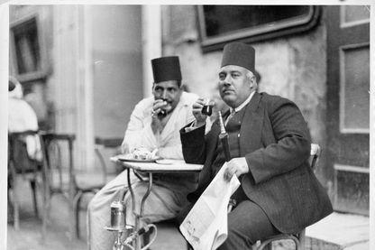 Café au Caire en 1950.
