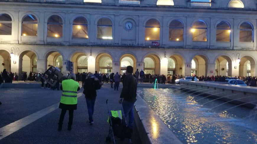 Le trafic a été interrompu dans la gare de Nîmes