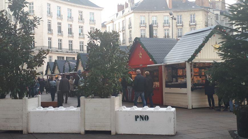 Les marchés de Noël, comme ici celui de Nantes, font l'objet d'une attention particulière en matière de sécurité.