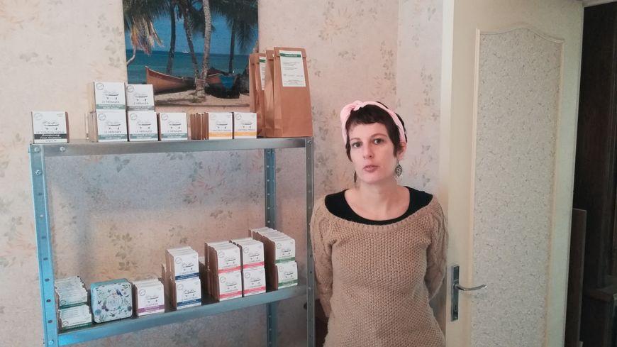 Aude Rodet a installé son laboratoire dans l'ancienne maison de ses beaux-parents