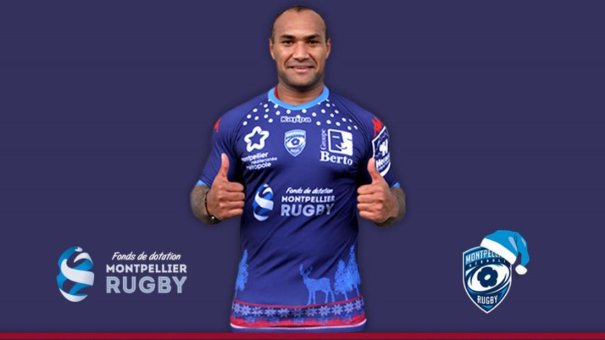 Le maillot collector des rugbymen Montpellier contre Grenoble © MHR