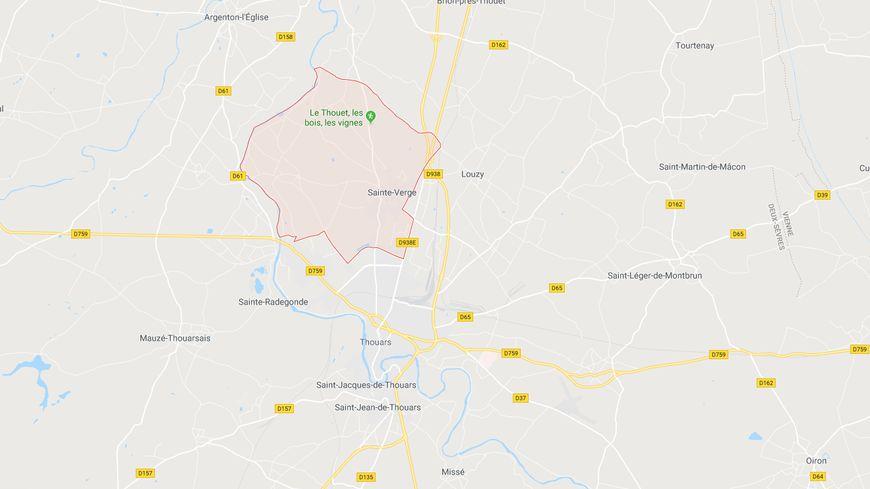Illustration : l'accident a eu lieu au Nord de Thouars à Sainte-Verge.