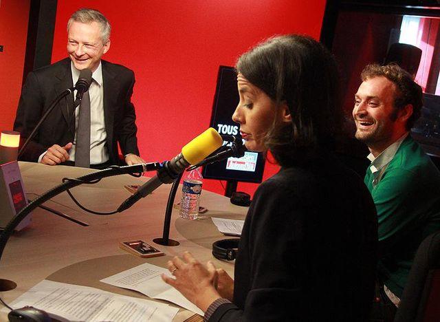 Bruno Le Maire, Sophia Aram et Augustin Trapenard