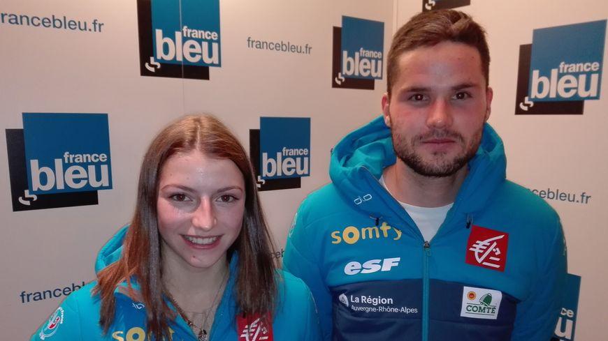 Les Francs-Comtois de l'équipe de France de saut à ski féminin, Joséphine Pagnier (16 ans) et Alexandre Mougin (coach), étaient les invités de France Bleu Besançon Sports le 10 décembre 2018