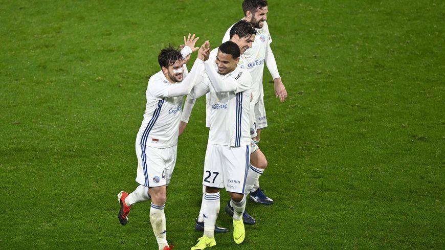 La joie de Pablo Martinez après son but contre Rennes.