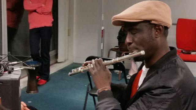 Gandé Adam, flutiste soudanais