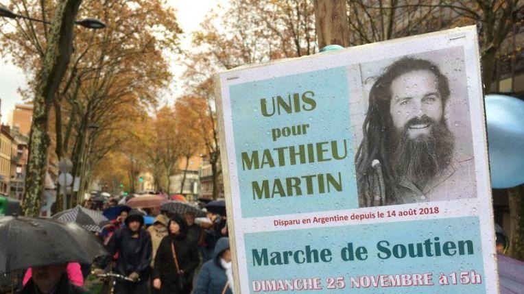 En novembre, 800 personnes s'étaient retrouvées dans le centre de Toulouse pour soutenir la famille de Mathieu Martin.