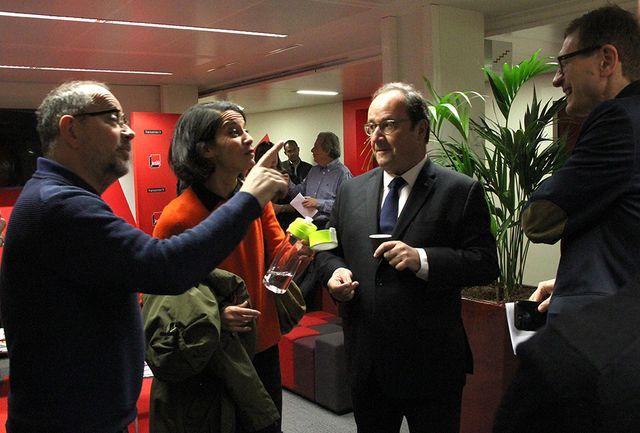 Thomas Legrand, Sophia Aram, François Hollande et Dominique Seux