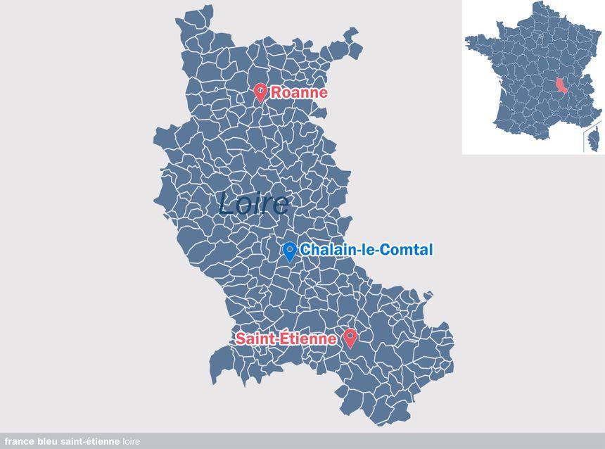 Chalain-le-Comtal, dans la Loire