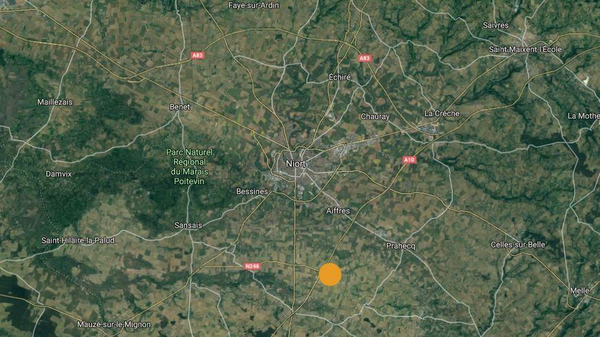 L'épicentre était situé à 11 kilomètres au sud de Niort