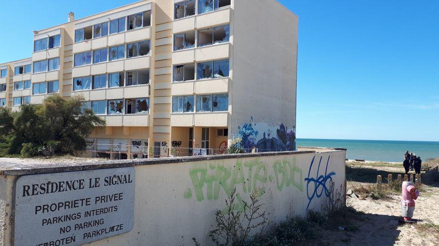 L'immeuble Le Signal à Soulac-sur-mer vidé de ses habitants depuis 2014