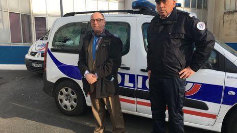 Le procureur Michel Garrandaux et le commandant divisionnaire Jean Christophe Merle