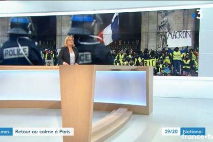 Capture écran du JT de France 3 diffusé samedi 15 décembre