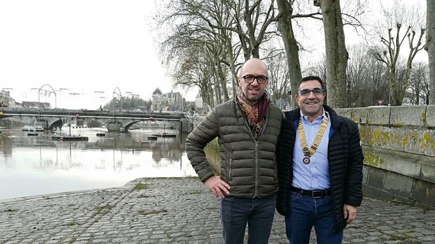 Pierrick Guesné (à gauche) a été élu Mayennais de l'année par le Rotary-Club de Laval