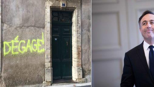 C'est la 2ème fois que le député LREM de l'Hérault se retrouve ainsi visé par des inscriptions anonymes