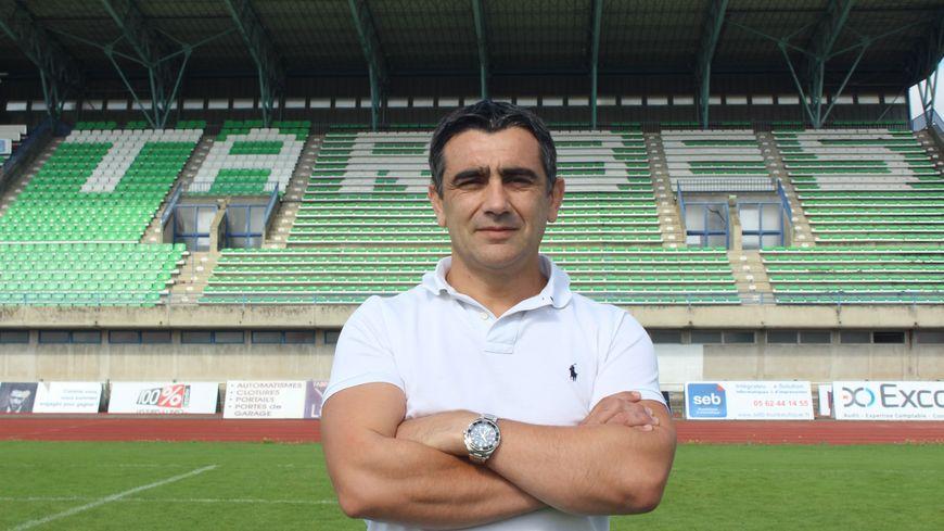 Lionel Terré, président du Stado Tarbes-Pyrénées Rugby depuis cet été.