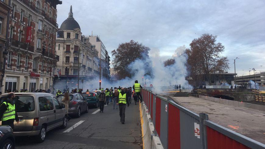 Benoit a été blessé lors de la manifestation des gilets jaunes le 1er décembre dernier au niveau de la gare Matabiau à Toulouse.