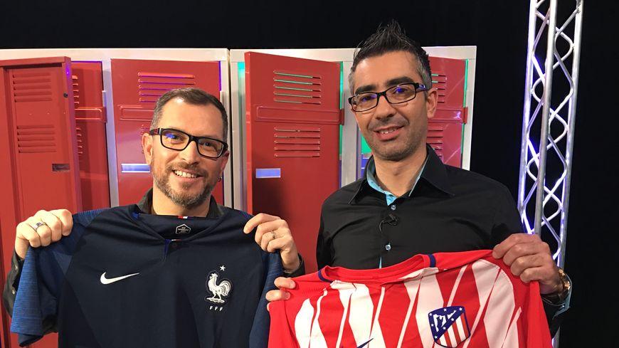 Arnaud Vaucelle, conseiller technique de la Ligue de football des Pays de la Loire, aux côtés d'Anthony Brulez