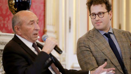 Lundi 3 décembre 2018. Gérard Collomb, le maire de Lyon, présente à la presse Nikolaj Szeps-Znaider, nouveau directeur musical de l'Orchestre national de Lyon