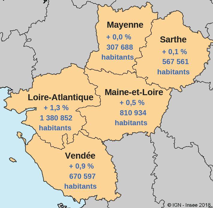 Des dynamiques démographiques départementales variées (population 2016 et évolution annuelle moyenne entre 2011 et 2016).