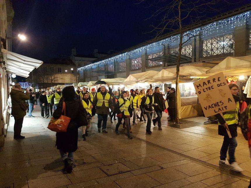 Le cortège de manifestants à Nancy