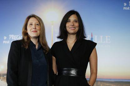 Les sœurs-cinéastes Clara et Julia Kuperberg durant un photocall le 4 septembre 2016, lors du festival du film américain de Deauville.