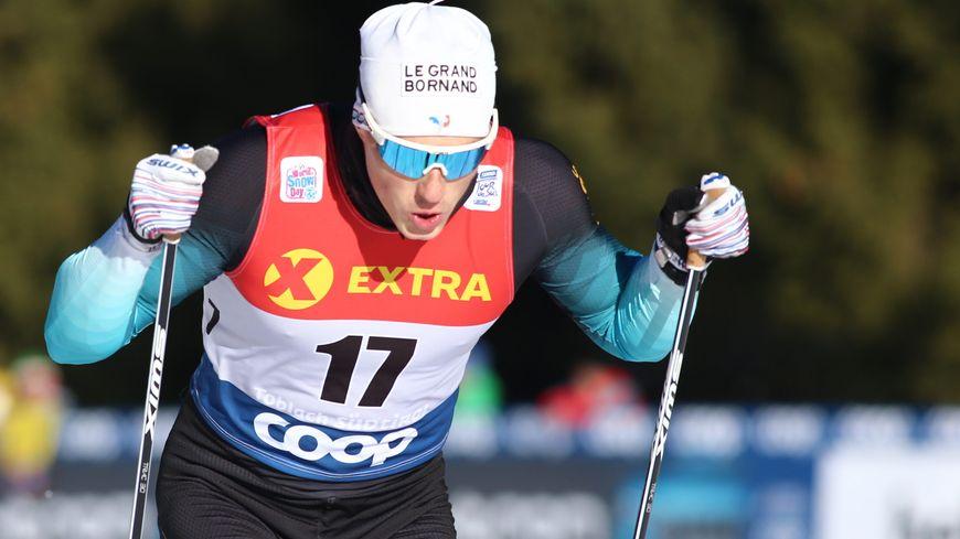 Lucas Chanavat sur l'épreuve du sprint de Toblach au Tour de ski