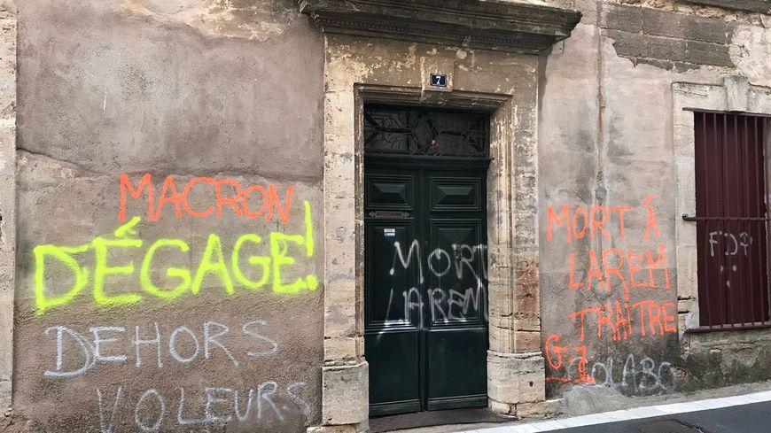 Le mur du domicile de Philippe Huppé a été de nouveau tagué