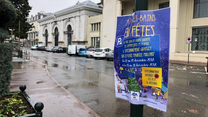 Le stationnement est gratuit pendant la période des fêtes sur certains parkings d'Aix-les-Bains.