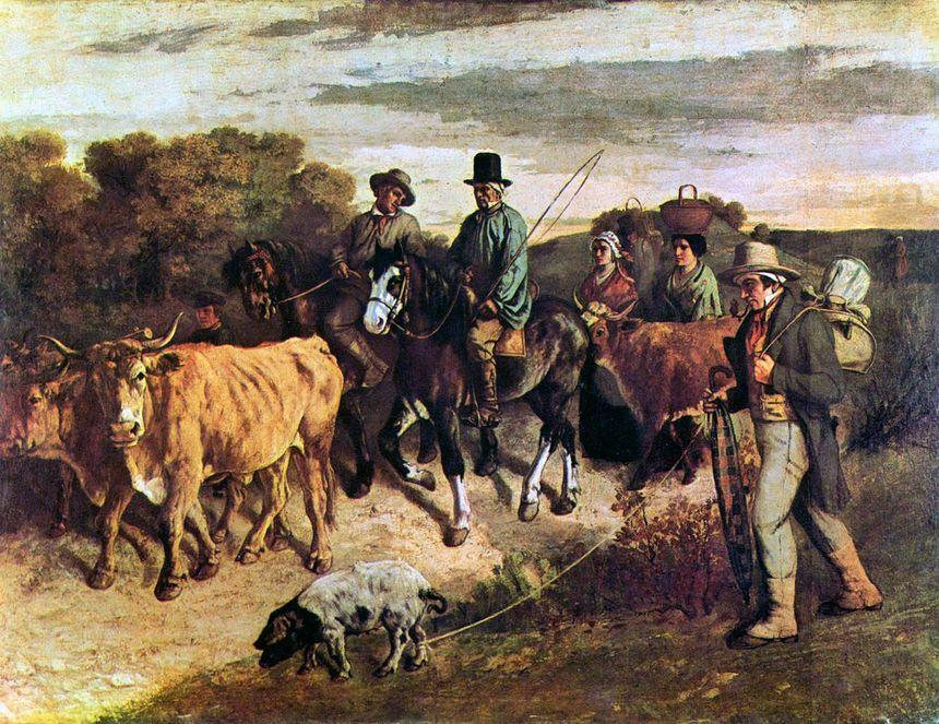 Gustave Courbet - Les paysans de Flagey revant de la foire