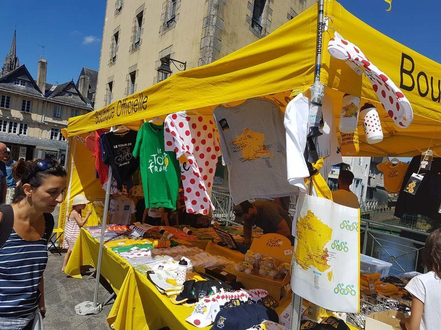 Les rues de Quimper prêtes pour accueillir la Grande Boucle.