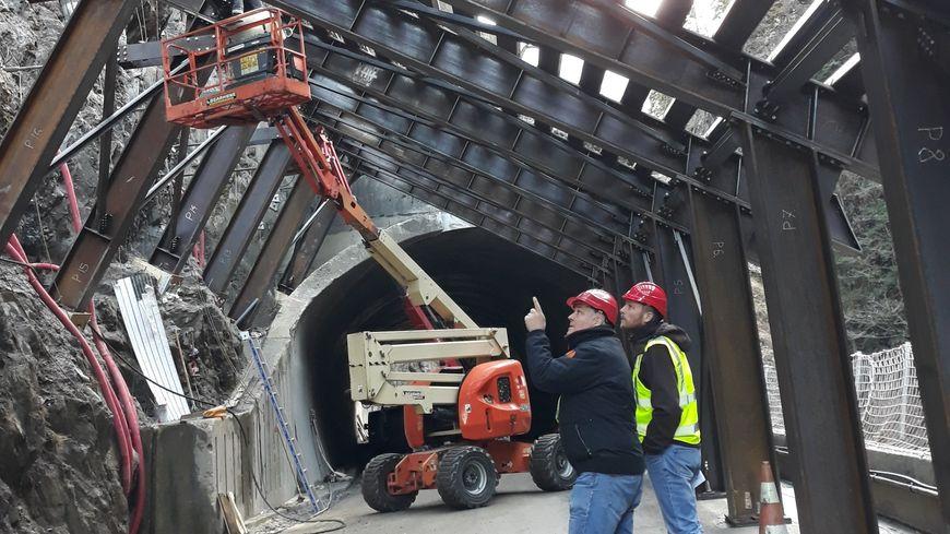 Les travaux en cours au niveau du tunnel des Cliets