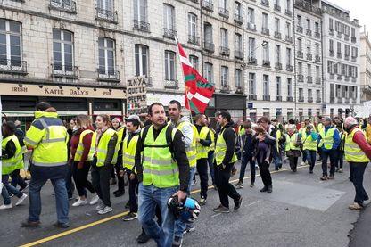 Manifestation de Gilets jaunes à Bayonne