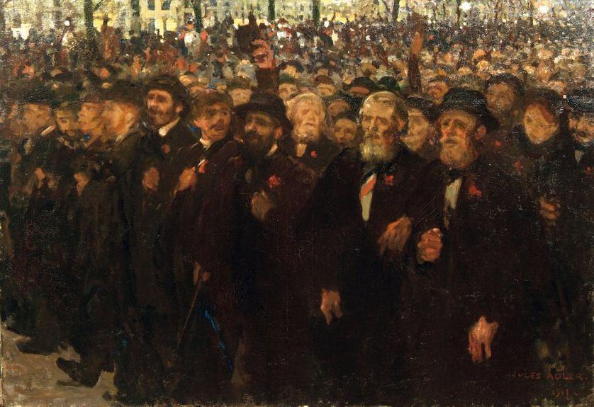 La manifestation Ferrer, huile sur toile, 1911