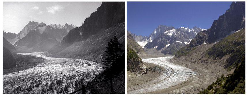 L'évolution de la Mer de glace dans le massif du Mont-Blanc