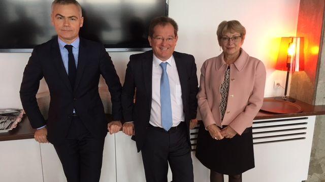 """Christophe Bouillon, Didier Marie et Nelly Tocqueville, en """"campagne"""" pour le Référendum d'Initiative Citoyenne"""