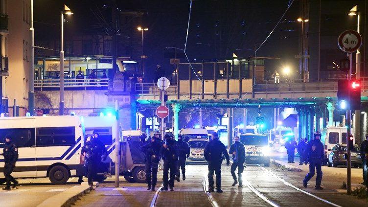 Des policiers à Strasbourg le 11 décembre 2018