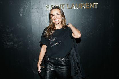 Elodie Bouchez, actrice française (assistant à un défilé Yves Saint-Laurent, le 25 septembre 2018, Paris).