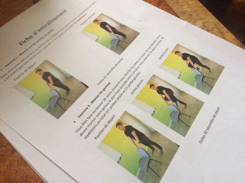 La fiche explicative préparée par Elliot, avec des photos et des descriptions précises.