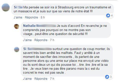 """Capture d'écran des échanges entre """"gilets jaunes"""" sur le groupe Facebook """"La France en colère !!!"""""""