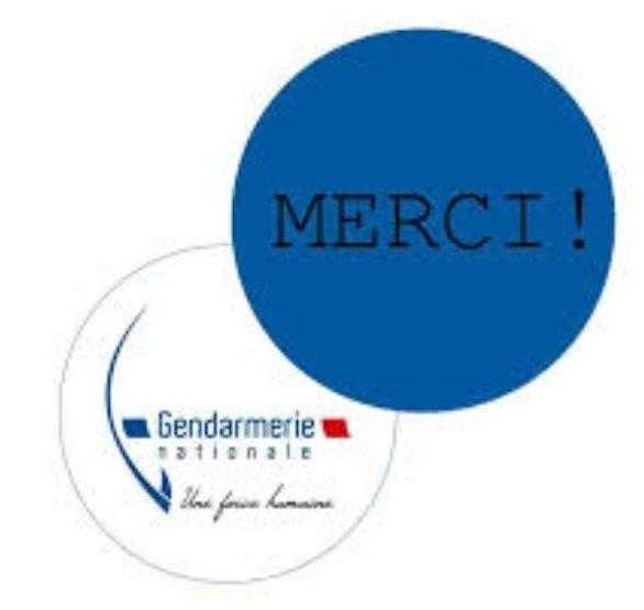 Le message des gendarmes