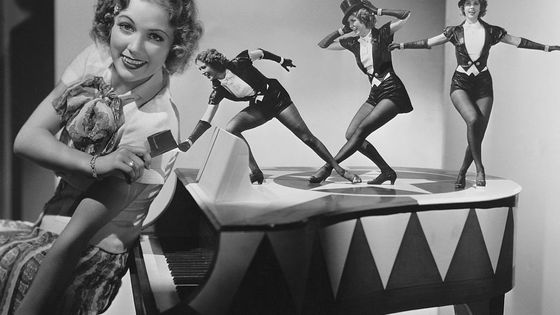 Eleanor Powell thinks of new tap dance moves for the 1936 film Born to Dance