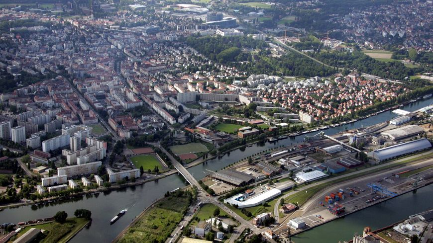 Vue aérienne de Strasbourg