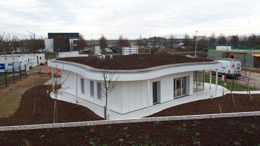 Un des prototypes de maison connectée construite par Plurial Novilia. Surface habitable, 90 m²