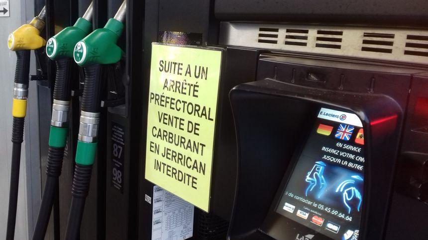 Un arrêté préfectoral limite la vente de carburant en libre-service