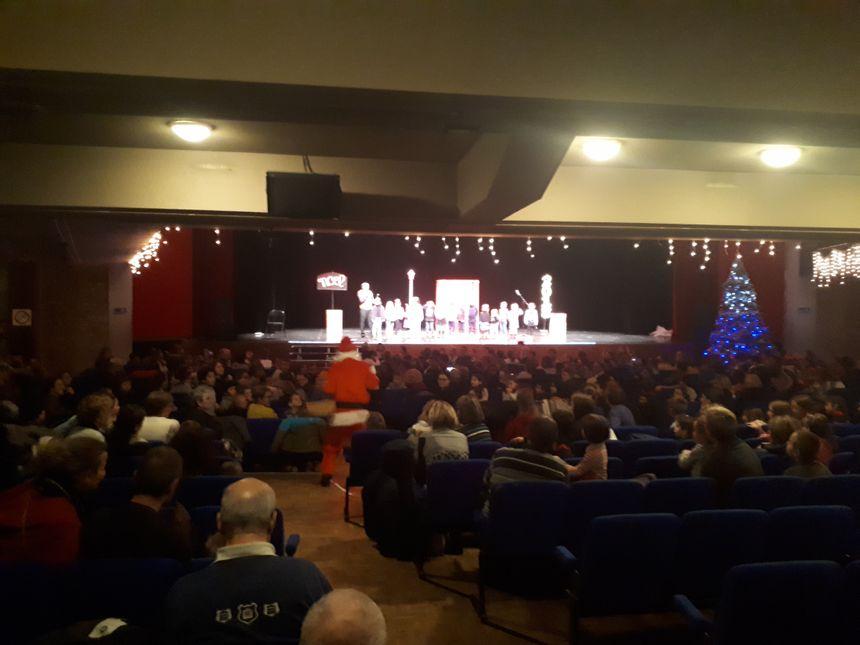 Le père Noël lors de son passage en Lozère