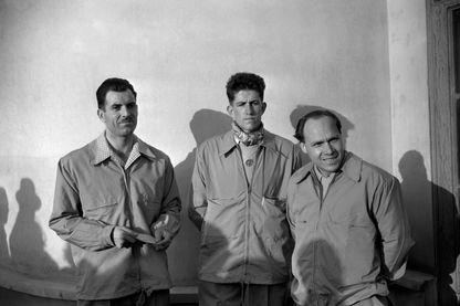 Les alpinistes Gaston Rebuffat, Maurice Herzog et Jacques Oudot, printemps 1950.