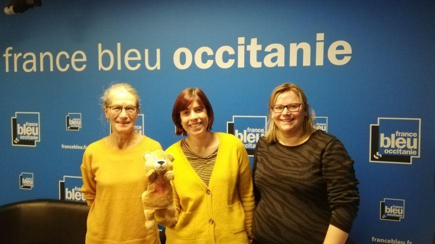 Mireille Icard, Élise Deruelle et Caroline Denis