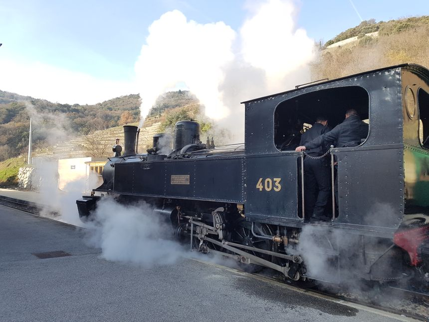 La locomotive Mallet du train de l'Ardèche a été restaurée en 2013.